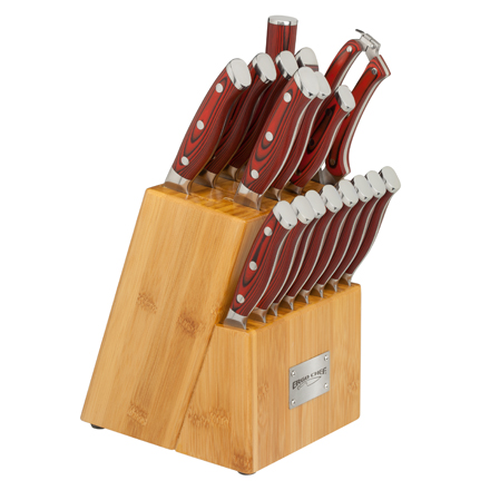Ergo Chef Crimson 18 Piece Knife Block Set