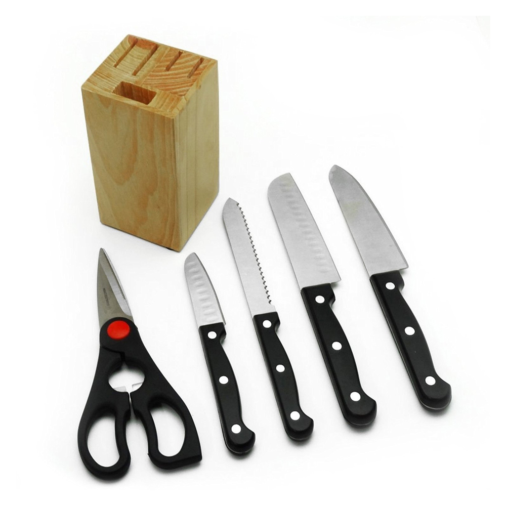 Gibson 6pc Collarette Cutlery and Cutting Board Set